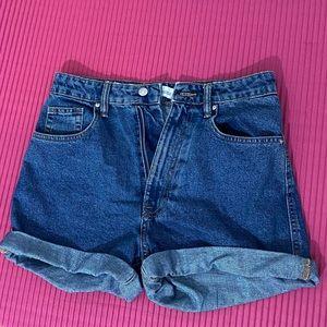 NWOT Zara High-Waisted Denim Shorts